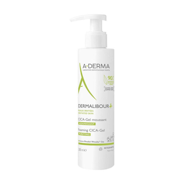 A-Derma Dermalibour+ peneči CICA-gel, 200 ml