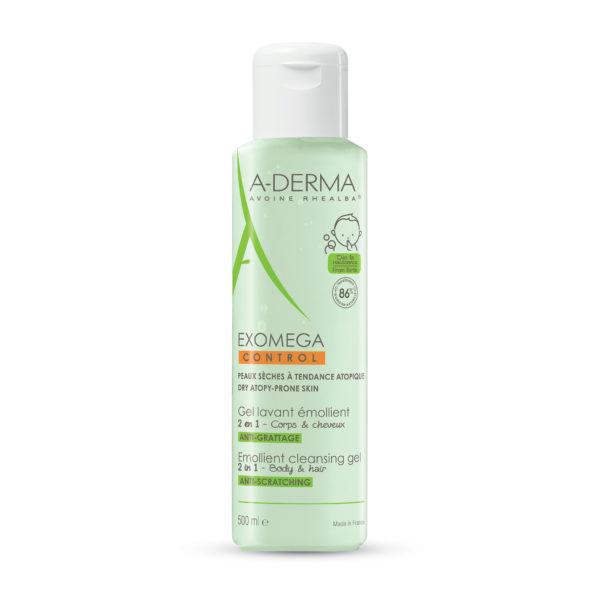 A-Derma Exomega Control 2v1 čistilni gel