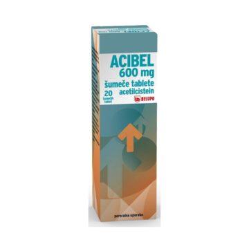 Acibel 600 mg šumeče tablete 20 tbl