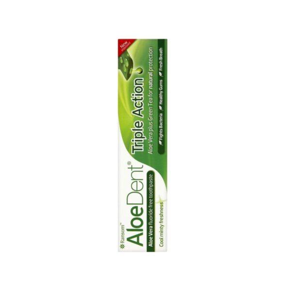 AloeDent zobna krema s Q10 in čajevcem, 100 ml