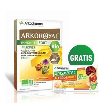 Arkoroyal Immunite Fort BIO, 20 x 10 ml + GRATIS Acerola Boost