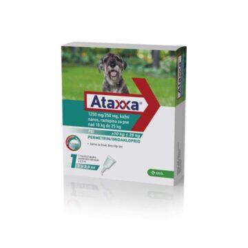 Ataxxa 1250 mg250 mg, kožni nanos, raztopina za pse nad 10 kg do 25 kg