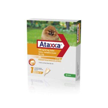Ataxxa 200 mg-40 mg, kožni nanos, raztopina za pse do 4 kg