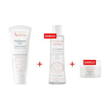 Avene Hydrance Riche paket, 40 ml + 100 ml + 7 ml