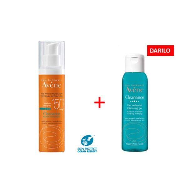 Avene Sun Cleanance krema SPF50+, 50 ml+ DARILO