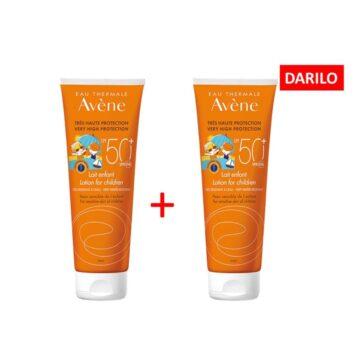 Avene Sun losjon za otroke z zaščito pred soncem SPF50+, 100 ml 1+1 GRATIS