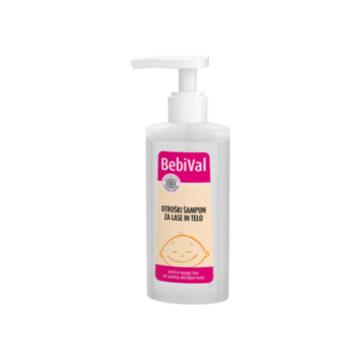 BebiVal otroški šampon za lase in telo, 190 ml