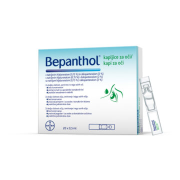 Bepanthol kapljice za oči, 20 x 0,5 ml