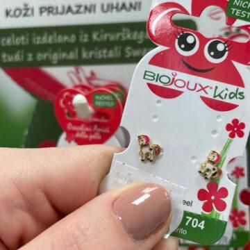 Biojoux Kids medicinski uhani Baby samorog BJT704