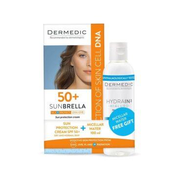 Dermedic Sunbrella sončna krema za suho in normalno kožo ZF50+, 50 ml + DARILO