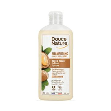 Douce Nature, Naravni šampon za suhe lase, argan, 250 ml