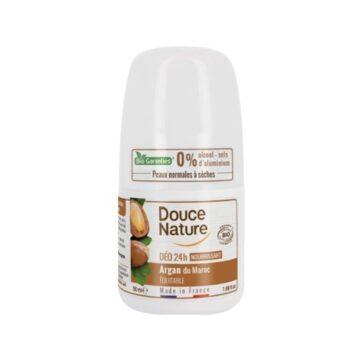 Douce Nature naravni deodorant roll-on 24h argan, 50 ml