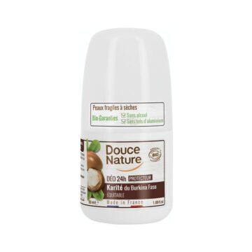 Douce Nature naravni deodorant roll-on 24h karite, 50 ml