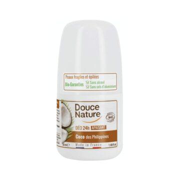 Douce Nature naravni deodorant roll-on 24h kokos, 50 ml