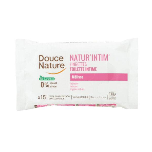 Douce Nature naravni intimni robčki, 15 robčkov