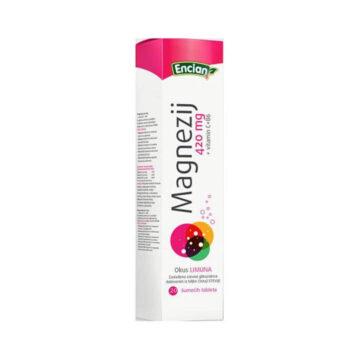 Encian Magnezij 420 mg+Vitamin C+Vitamin B6, 20 šumenk