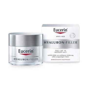 Eucerin Hyaluron-Filler dnevna krema za suho kožo z ZF 15, 50 ml