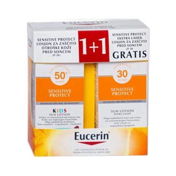 Eucerin Sun družinski paket, 2 x 150 ml