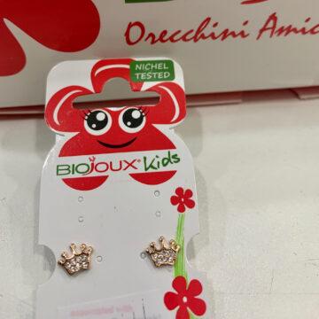 Biojoux Kids medicinski uhani krona BJT707