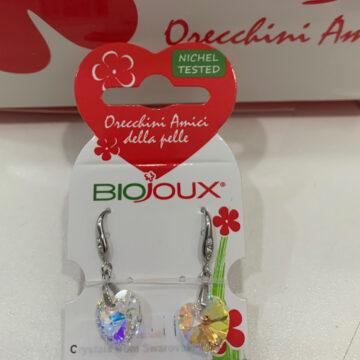 Biojoux medicinski uhani kristal srce