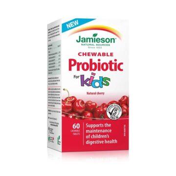 Jamieson Prebiotic žvečljive tablete za otroke z okusom češnje, 60 tablet