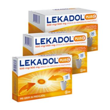 Lekadol plus C 500 mg na 300 mg zrnca za peroralno raztopino, 10, 20, 30 vrečk