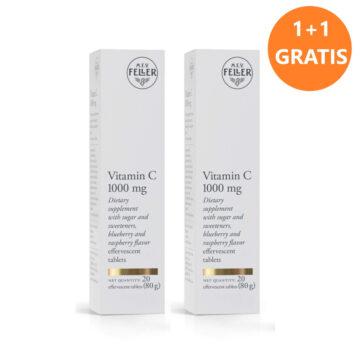 M.E.V. Feller Vitamin C 1.000 mg 1+1 GRATIS, 2 x 20šumečih tablet