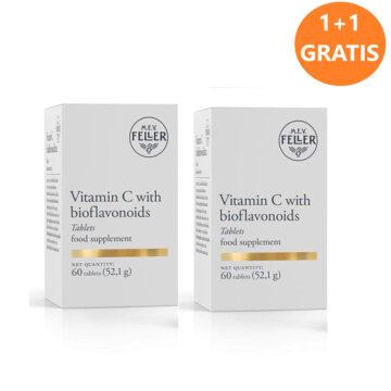 M.E.V. Feller Vitamin C z bioflavonoidi 1+1 GRATIS, 2 x 60 tablet