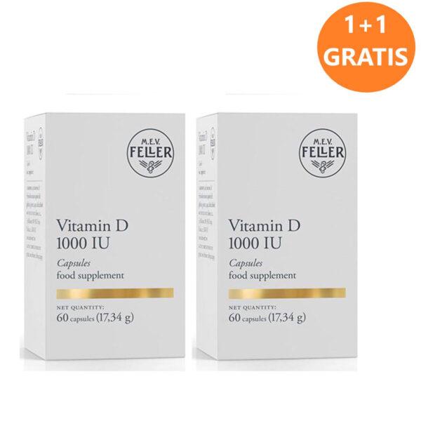 M.E.V. Feller Vitamin D 1.000 I.E. kapsule 1+1 GRATIS, 2 x 60 kapsul
