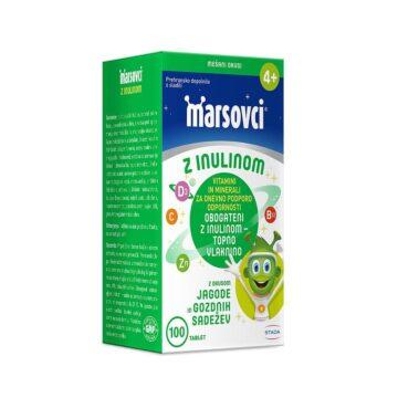 Marsovci z inulinom okus gozdnih sadežev, jagode, črnega ribeza, 100 tablet