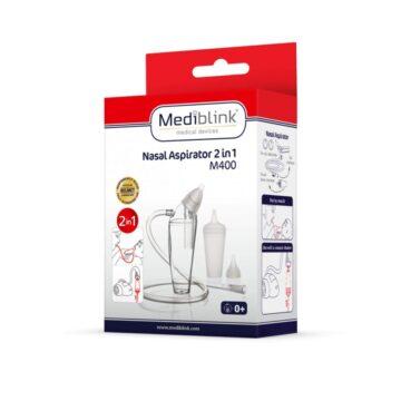 Mediblink nosni aspirator na sesalec ali vdih 2v1 M400