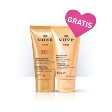 Nuxe Sun topljiva krema za zaščito pred soncem ZF 50, 50 ml + GRATIS losjon