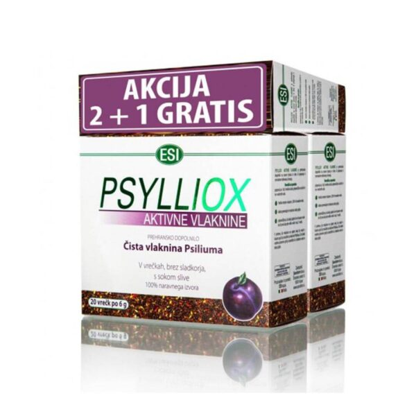 Psylliox aktivne vlaknine 2+1 GRATIS, 3 x 20 vrečk