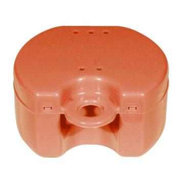 Škatlica za ortodontski aparat ali protezo, rdeča