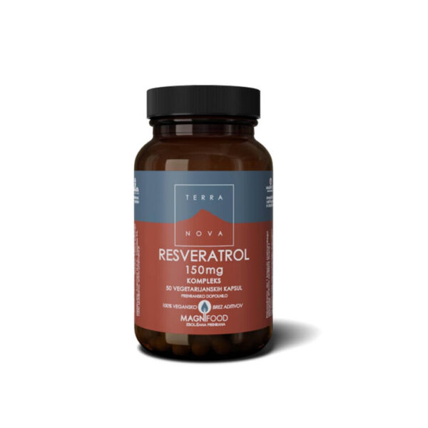 Terranova Resveratrol 150 mg kompleks, 50 kapsul