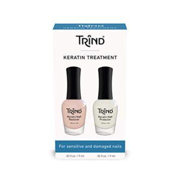 Trind keratin treatment set-za nego občutljivih in poškodovanih nohtov, 1 set
