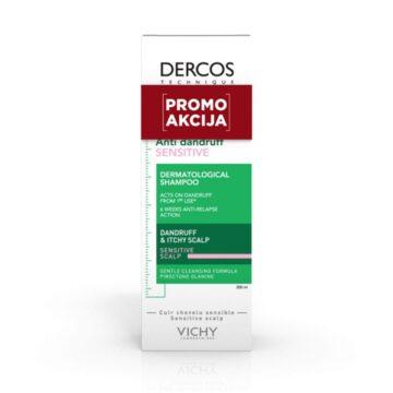 Vichy AKCIJA Dercos Antipelliculare Sensitive negovalni šampon proti prhljaju za občutljive lase, 200 ml