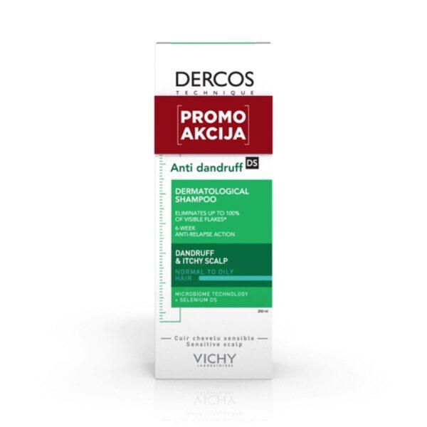 Vichy AKCIJA Dercos šampon proti prhljaju za normalne in mastne lase, 200 ml