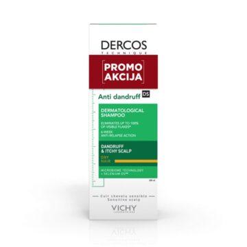 Vichy AKCIJA Dercos šampon proti prhljaju za suhe lase, 200 ml
