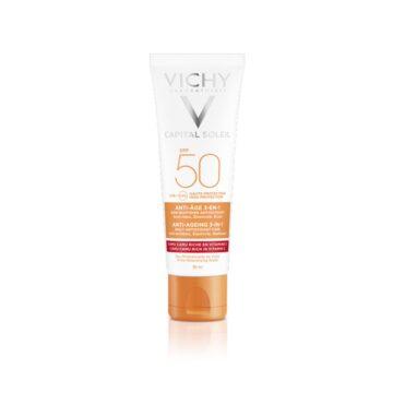 Vichy Capital Soleil krema za zaščito pred soncem z anti-age učinkom ZF 50, 50 ml