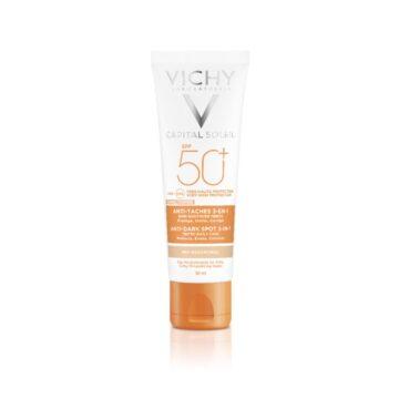 Vichy Capital Soleil obarvana zaščitna krema za obraz 3v1 ZF 50+, 50 ml