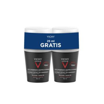 Vichy Homme dezodorant z 72-urno zaščito proti potenju AKCIJA, 2 x 50 ml