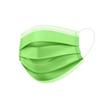 Zelena obrazna maska trislojna, 1 maska