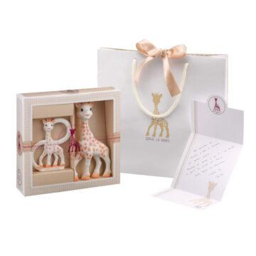Žirafa Sophie in obroček darilni set, 1 set