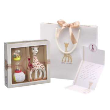 Žirafa Sophie in ropotulja darilni set, 1 set