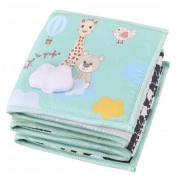 Žirafa Sophie mehka zložljiva knjiga, 1 knjiga