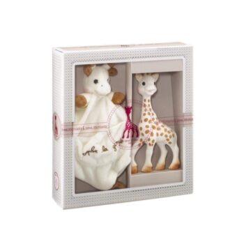 Žirafa Sophie z ninico darilni set, 1 set