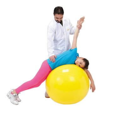 Žoga za sedenje in telovadbo Gymnic Classic 45 cm rumena, 1 žoga