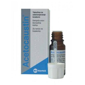 Acetocaustin tekočina za odstranjevanje bradavic, 0,50 ml