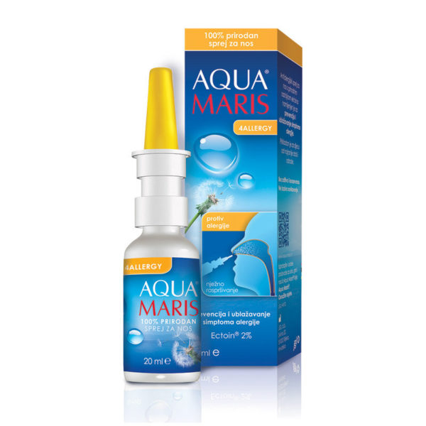 Aqua Maris 4Allergy antialergijsko pršilo za nos, 20 ml